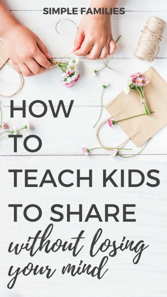 How to teach kids to share