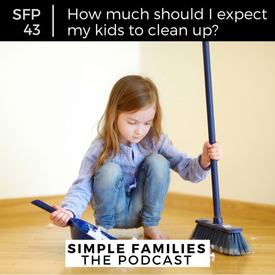 how much should I expect my kids to clean up?