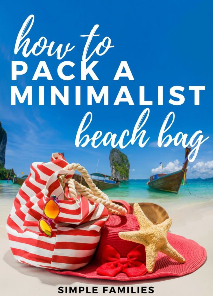 how to pack a simple beach bag