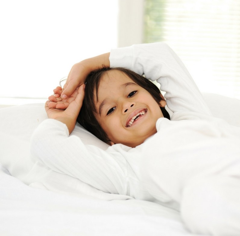 how to get my child to stay in bed